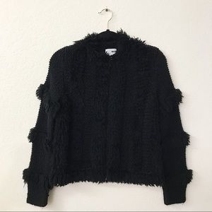 Amuse Society Chill Out Black Sands Sweater Jacket